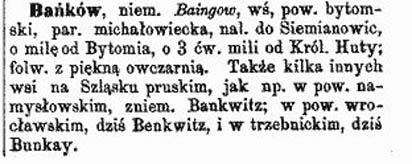 Bankow / Bańgów (German Baingow), Siemianowice Śląskie, Poland