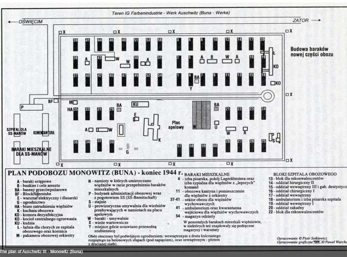 Auschwitz III Monowitz plan